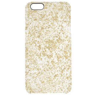 Faux Gold Glitter Dust Clear iPhone 6 Plus Case