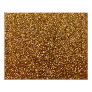 Faux Gold glitter graphic Poster