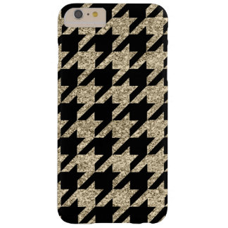Faux Gold Glitter Houndstooth iPhone 6+ Case