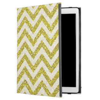Faux gold glitter iPad Pro case