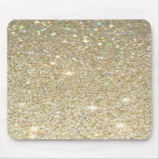 Faux Gold Glitter Mousepad, Glitter Look Mouse Pad