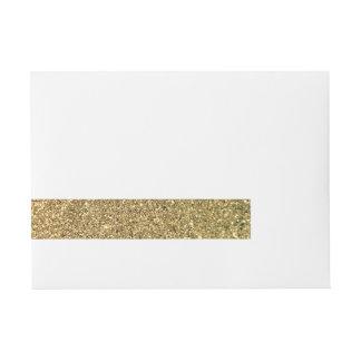 Faux Gold Glitter Photo Wraparound Address Label