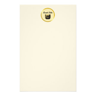 Faux Gold Glitter Sweet Like Honey Customized Stationery