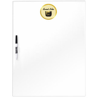 Faux Gold Glitter Sweet Like Honey Dry Erase Board