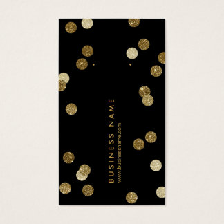 Faux Gold Glitter Vertical Earring Back Cards