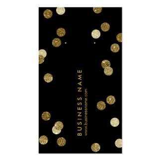 Faux Gold Glitter Vertical Earring Back Cards Business Card