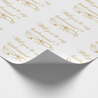 Faux Gold Glitter Wrapping Paper