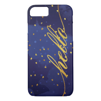 Faux Gold Hello Watercolor iPhone 7 Case