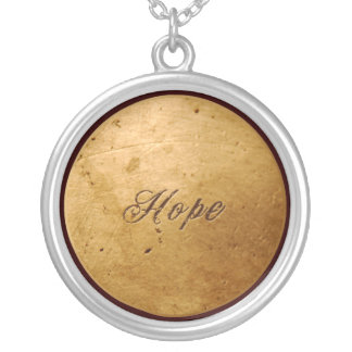 Faux Gold Hope necklace