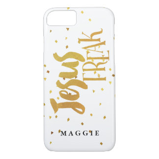 Faux Gold Jesus Freak Gold Confetti iPhone 7 Case
