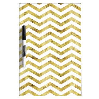 Faux Gold Leaf Chevron Dry Erase Board
