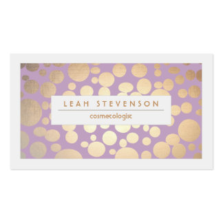 Faux Gold Leaf Cosmetologist Purple Stylist Pack Of Standard Business Cards