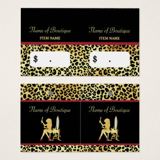 FAUX Gold Leopard Woman Hair Boutique Hang Tags