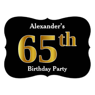 Faux Gold Look 65th Birthday Party + Custom Name Card