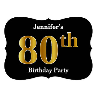 Faux Gold Look 80th Birthday Party + Custom Name Card