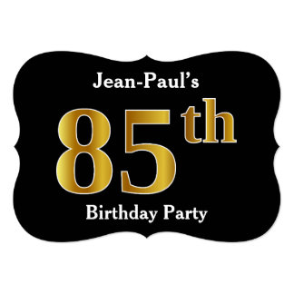 Faux Gold Look 85th Birthday Party + Custom Names Card