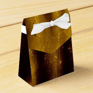 Faux Gold Paint And Glitter On Black Favor Box
