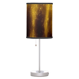 Faux Gold Paint And Glitter On Black Table Lamp
