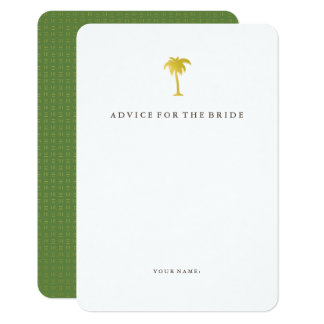 Faux Gold Palm Tree Advice for the Bride | Green Card