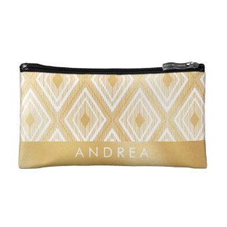 Faux Gold Pattern Makeup bag