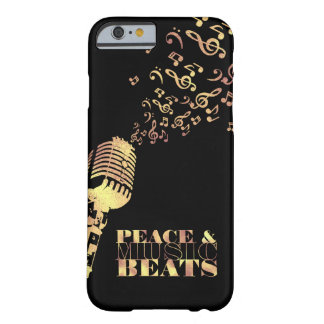 Faux Gold, Peace and Music Beats Barely There iPhone 6 Case
