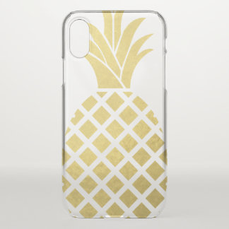Faux Gold Pineapple iPhone X Case