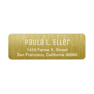faux gold return address label