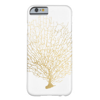 Faux Gold Sea Fan Sea Coral Barely There iPhone 6 Case