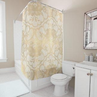 Faux Gold Sepia Royal Antonietta White Floral Lace