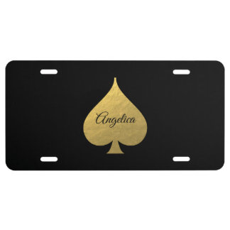 Faux Gold Spade Symbol Plate