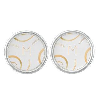 (Faux Gold) Spiral Monogram | Cufflinks