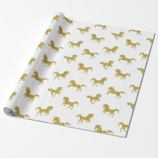 Faux Gold Unicorn Wrapping Paper