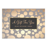 Faux Goldand Taupe Spa and Salon Gift Certificate