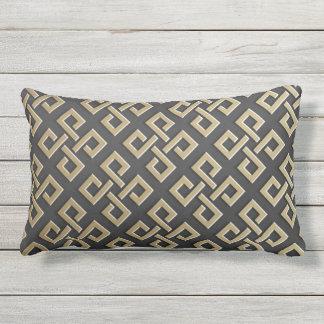 Faux Golden Metallic Pattern throw pillows