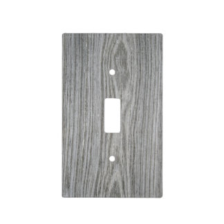 Faux Gray Wood Paneling Light Switch Cover