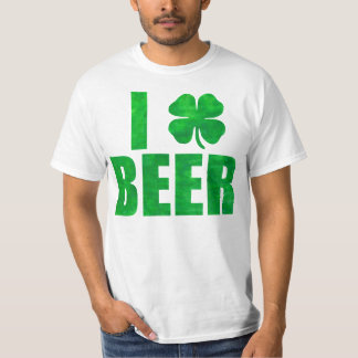 Faux Green I Love (Shamrock) Beer T-Shirt
