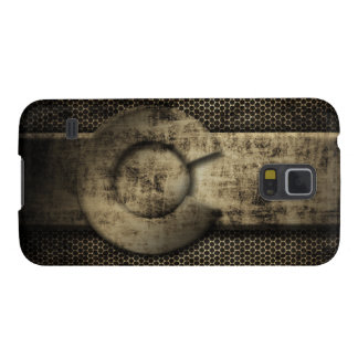 Faux Grunge Metal Colorado Flag Galaxy S5 Cases