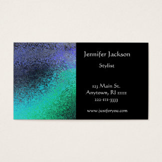 Faux Hammered Metal Business Cards