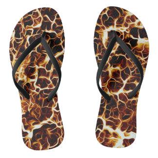 Faux Hot Lava Texture Flip Flops