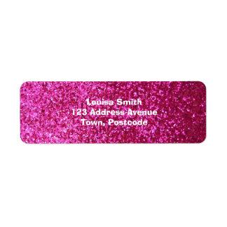 Faux Hot Pink Glitter