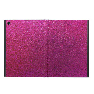 Faux Hot Pink Glitter Background Sparkle Cover For iPad Air