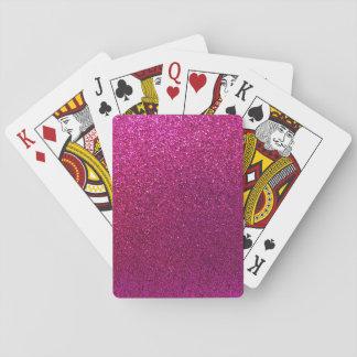 Faux Hot Pink Glitter Background Sparkle Poker Deck