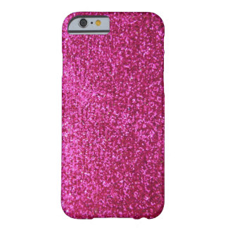 Faux Hot Pink Glitter Barely There iPhone 6 Case