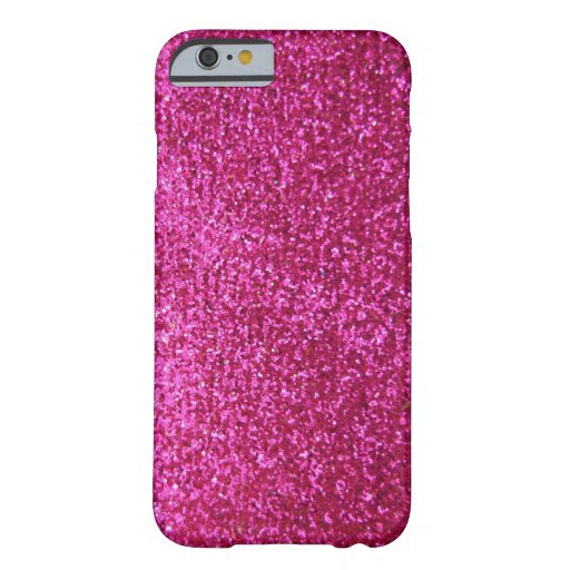 Faux Hot Pink Glitter iPhone 6 Case