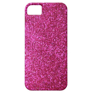 Faux Hot Pink Glitter Case For The iPhone 5