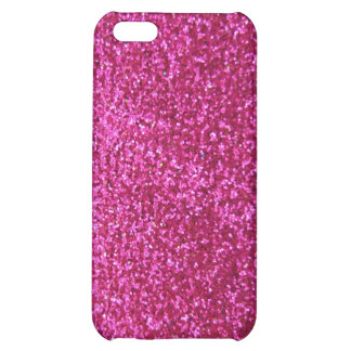 Faux Hot Pink Glitter Case For iPhone 5C