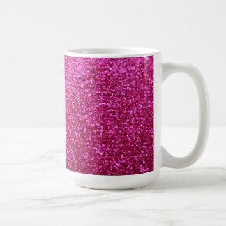 Faux Hot Pink Glitter Mug