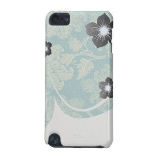 faux lace teal and cream floral damask iPod touch 5G cover