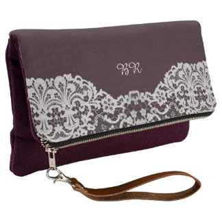 Faux Lace with (or without) your Initial(s) Clutch
