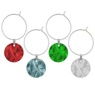 Faux Lame' Metallic red. Green, Silver Gray, Aqua Wine Charm